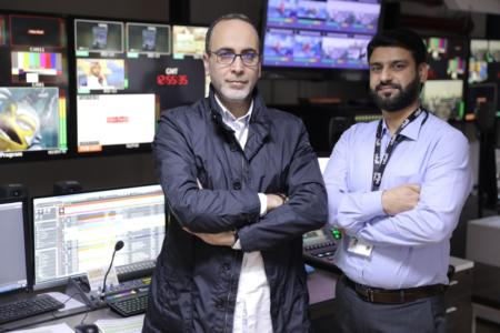 Ghandi Elghotmi and Riyaz Mirza of Al Rayyan TV